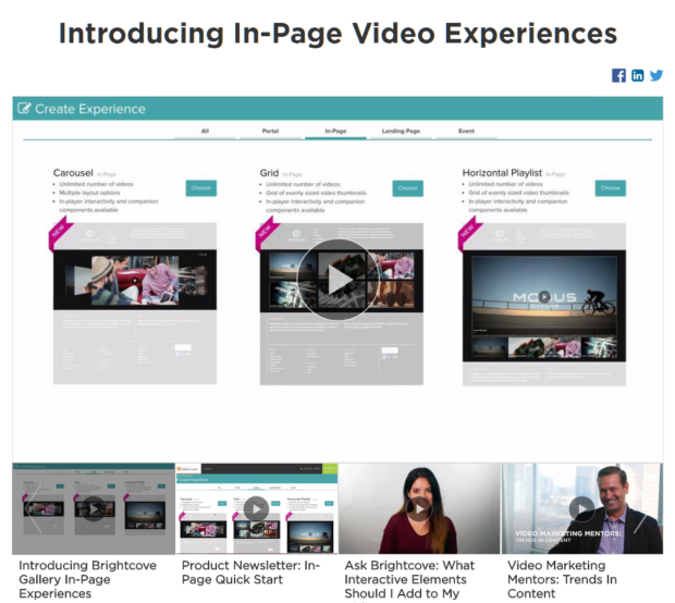 In-Page Video