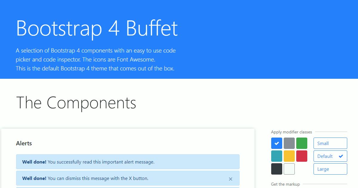Bootstrap 4 Buffet Iskcon Online