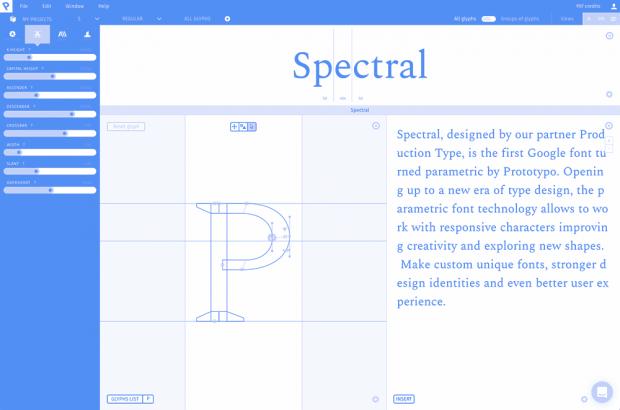 Discover Spectral, the first parametric Google font by Prototypo!