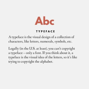What is a font vs. a typeface?
